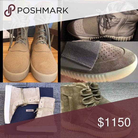 Bundle FLASH SALE! (3) Yeezys only 2 days left Selling 3 pairs of Yeezys ASAP to have enough $ for my triple white V2 Boosts before my reservation on the 29th. Only available for 2 more days! Taking 40% off each shoe. 1) Kanye Season 2 Boots Size 10 2) Brown 750 Boost Size 10 3) Grey 750 Boost Size 11-ALL W BOX! All together would cost $2200 selling for $1150 for the whole bundle!! Yeezy Shoes Athletic Shoes