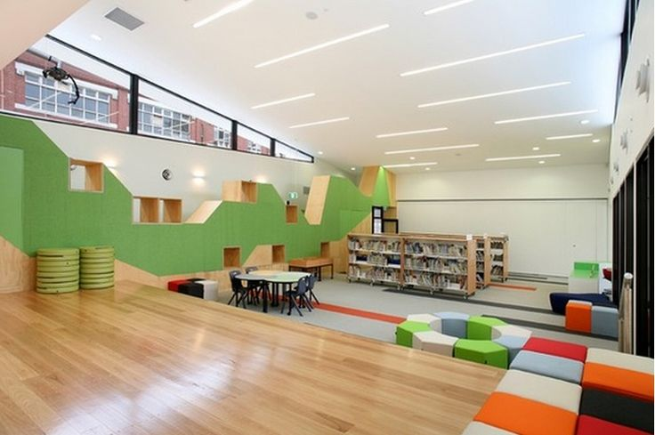 Crawl on the walls. St Joseph's Primary School Library in Melbourne