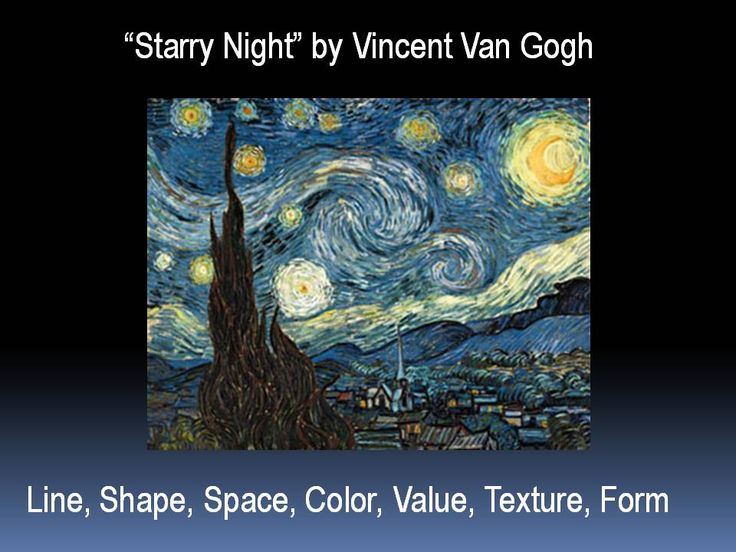 Elements And Principles Art Starry Night