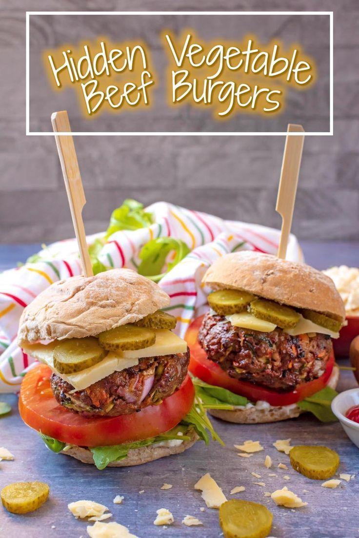 Healthy Hidden Vegetable Beef Burgers Recipe Homemade Beef Burgers Hidden Vegetables Homemade Beef