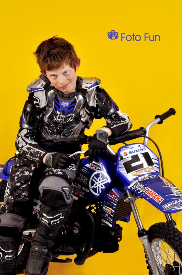 very cool young rider with attitude