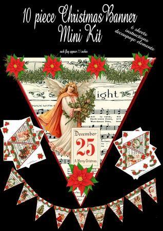 10 Piece Christmas Banner set  on Craftsuprint - Add To Basket!