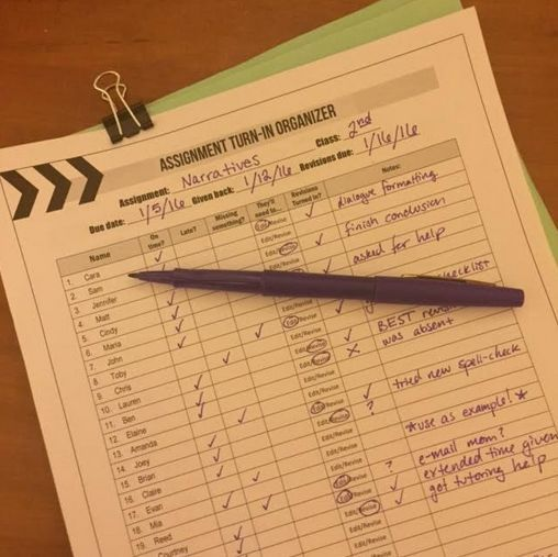 Blog Post: How 6 Secondary Teachers Stay Organized (including GRADING organization forms!)