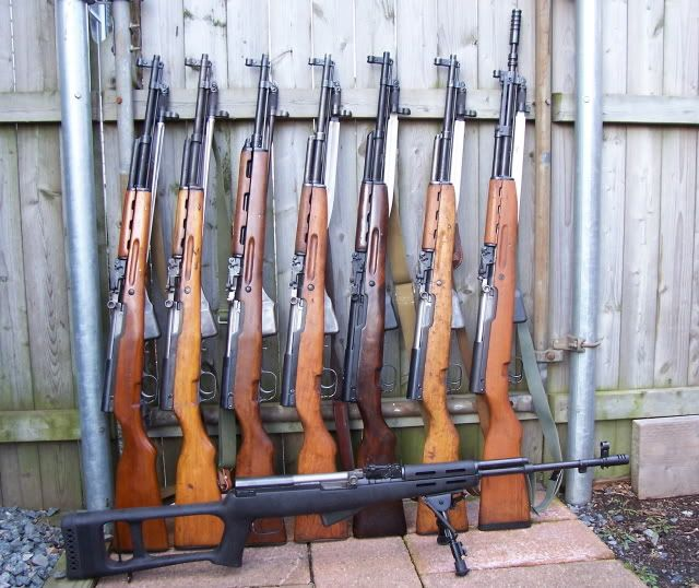A Nice Collection of SKS Rifles by Country guns... He likes the SKS cause it's my initials;)
