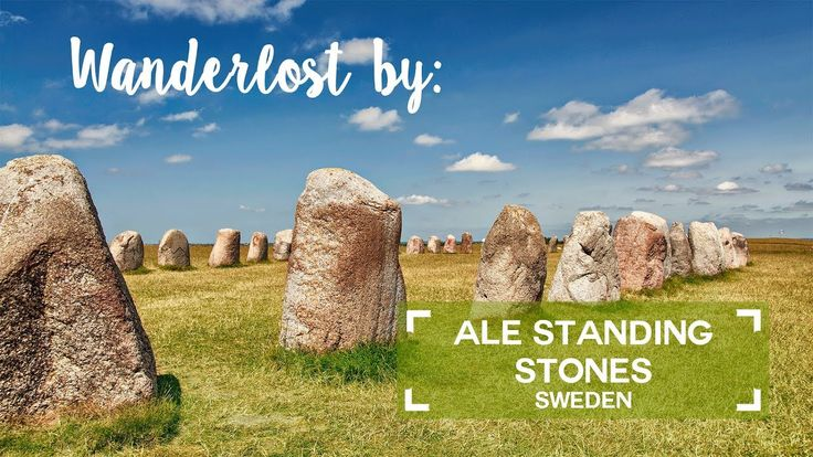 Ale standing stones - megalithic monument in south Sweden