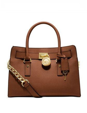 0943a5b261 Michael Michael Kors Large Saffiano Hamilton East West Satchel in ...
