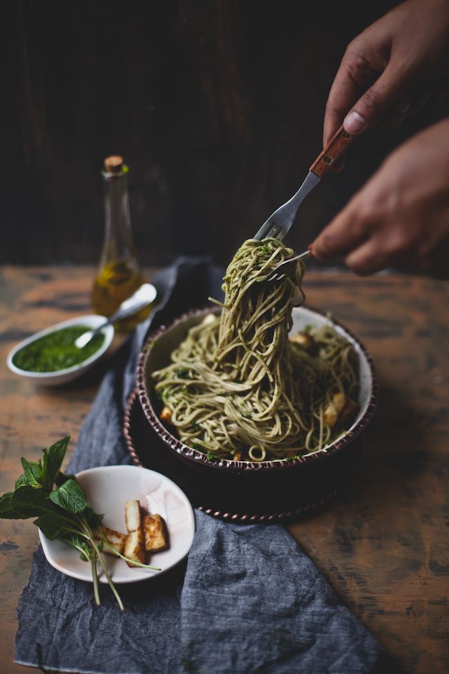 Soba Noodle w/ Chimichurri + Paneer | Playful Cooking