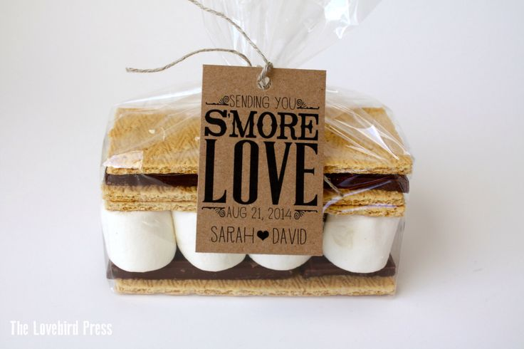 Wedding S'more Favor Tag - Rustic Personalized Printable S'more Love Wedding Favor Tag - PDF - DIY - AA2 by TheLovebirdPress on Etsy https://www.etsy.com/listing/178039303/wedding-smore-favor-tag-rustic