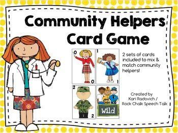 Community Helpers Card Game