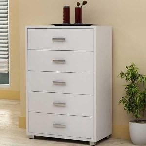 Lena 5 Drawer Chest - White 75W x 39D x110Hcm. Get marvelous discounts up to 60% Off at Deals Direct using Coupons & Promo Codes.