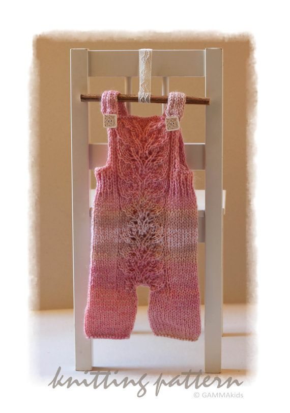 Lace baby romper KNITTING PATTERN Knitting baby PDF Baby