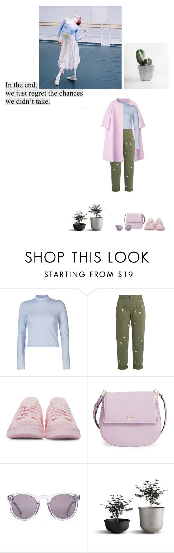 """Inspire"" by evidentia ❤ liked on Polyvore featuring Jil Sander, ONLY, STELLA McCARTNEY, adidas Originals, Kate Spade, HOOK LDN, pastels and clearsunglasses"