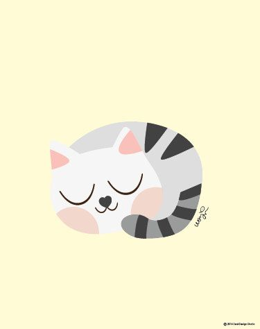 Baby Tabby Cat Sleeping Poster : Modern Animal Illustration Nursery Art Wall Decor Print 8 x 10 | INSTANT Digital Download Printable by SealAndFriends on Etsy https://www.etsy.com/listing/165842502/baby-tabby-cat-sleeping-poster-modern