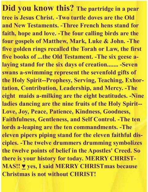 Partridge in a Pear Tree spiritually means