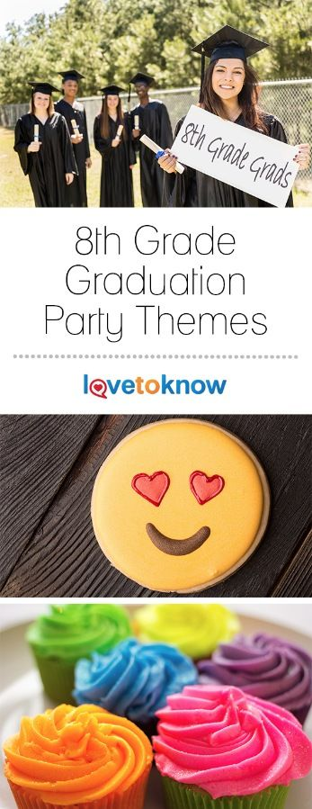 A graduation from middle school is a big deal so make sure the celebration is something to remember for your 8th grader. Not only does a theme add an element of fun to the big day, but it is an ideal way to tie the entire event together. Gather up some friends and family and have some thematic fun! | 8th Grade Graduation Party Themes from #LoveToKnow