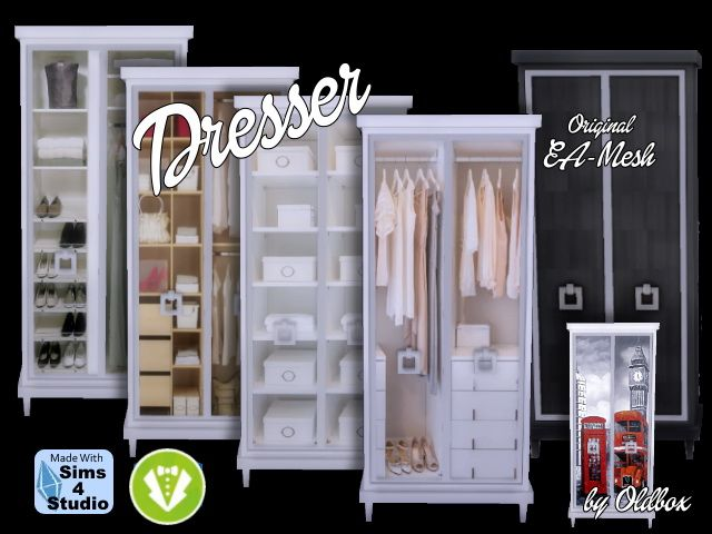 Dresser Vintage by Oldbox at All 4 Sims • Sims 4 Updates