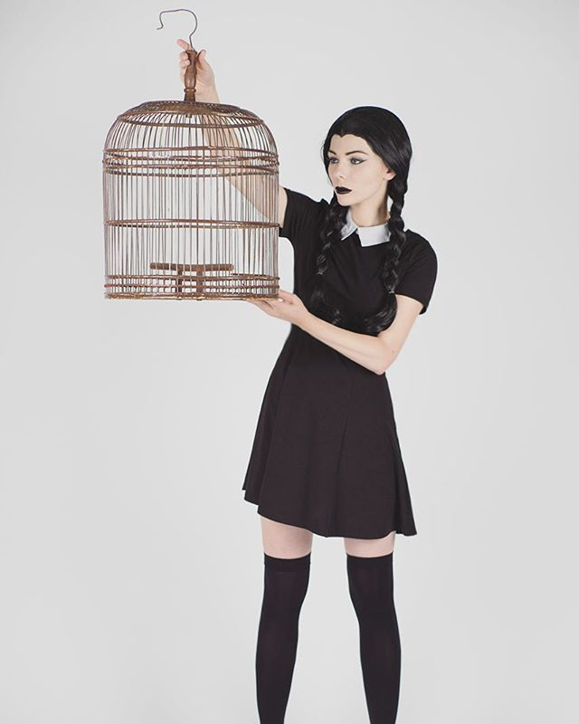 Pin for Later: 25 DIY Costumes Perfect For the Quintessential Hipster Wednesday Addams