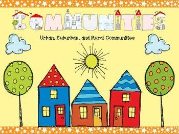 Communities: Urban, rural and suburban!!