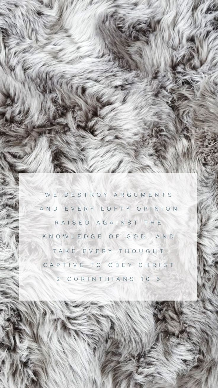 2 Corinthians 10:5 iphone wallpaper fur wallpaper, typography wallpaper, iPhone background, fur background, fur iPhone wallpaper, scripture wallpaper #iphone #scripture