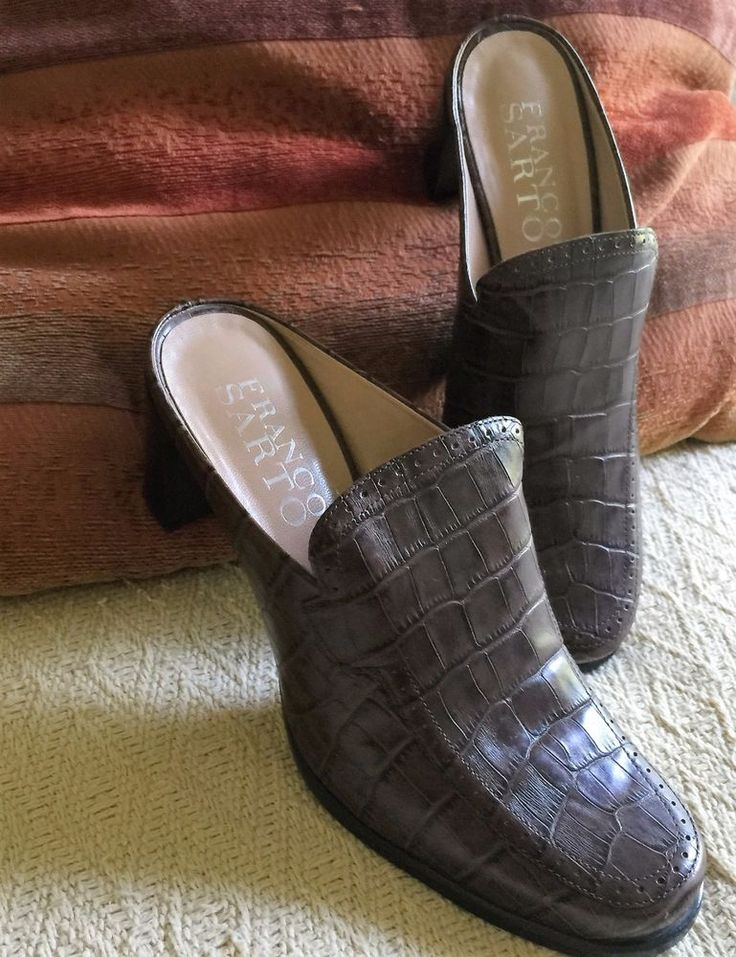Franco Sarto Women's Brown Leather Boots, Mules, Heels, Slip On Shoes Size 6 IOB…