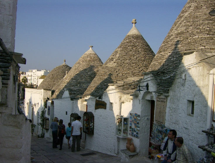 These houses are called Trulli. Photo taken in Alberobello, Puglia