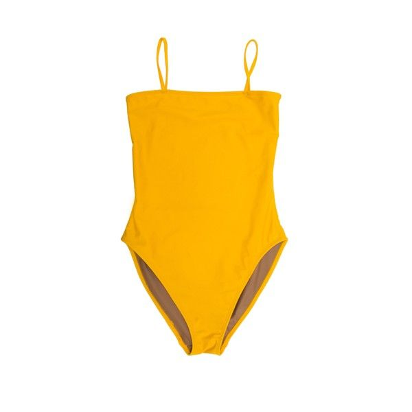 Straight One Piece ❤ liked on Polyvore featuring swimwear, one-piece swimsuits, high rise one piece bathing suit, high rise swimsuit, highwaist swimsuit and high rise bathing suit
