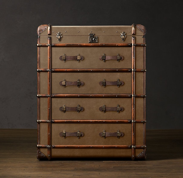 If I were rich, I'd buy this dresserChest Eclectic, Large Chest, Restoration Hardware, Guest Bedrooms, Bedrooms Armoires, Dressers Chest, Eclectic Dressers, Richard Large, Luggage Facades