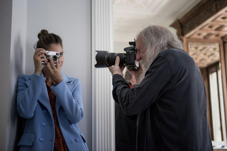 Harri Peccinotti shooting Camilla D'Alfonso for #PINKO #backstage #FW15