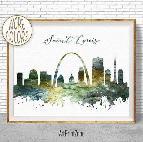 $8.00 Saint Louis Print, Saint Louis Skyline, Saint Louis Missouri, Office Gifts, City Skyline Prints, Skyline Art, Cityscape Art, ArtPrintZone #OfficeDecoration #CitySkylineArt #ArtPrint #CitySkylinePrints #CityArtPrint #SaintLouisSkyline #SaintLouisMissouri #SkylineArt #CityscapeArt #SaintLouisPrint