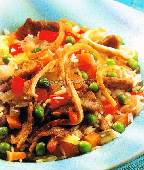 Ropogós sertéscsíkok pirított rizzsel | Receptek | gasztroABC