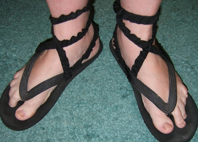 Quick costume sandals!  Not western, but thought we could use for the actors playing Moses, Aaron, etc.