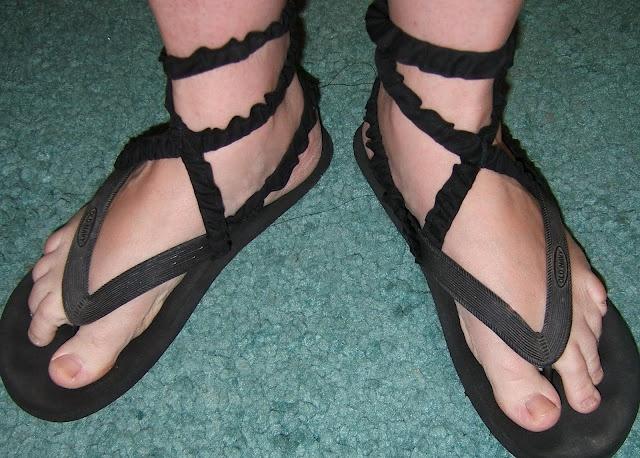 Quick costume sandals!