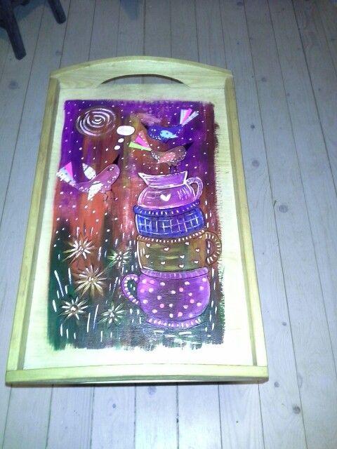 Dienblad folk art