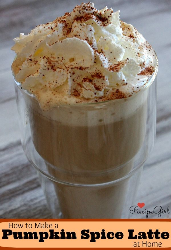 How to Make a Pumpkin Spice Latte ~ Do It Yourself version of Starbuck's delicious Pumpkin Spice Latte