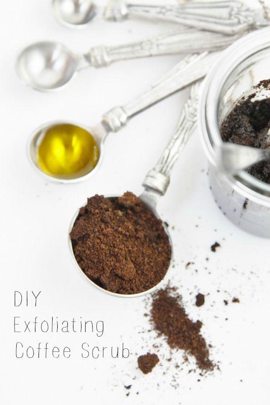 how to make coffee scrub with used coffee