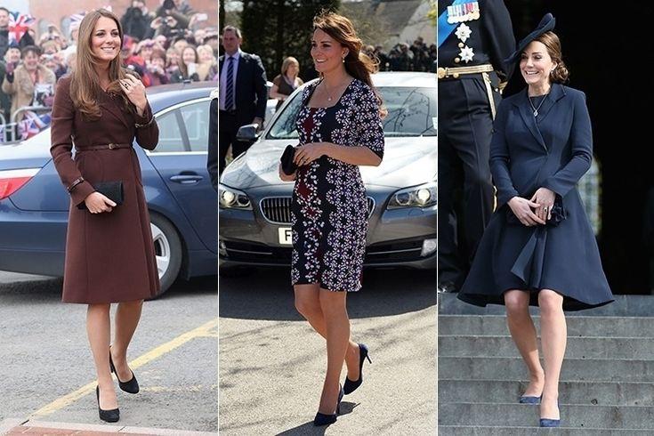Grávida do segundo filho com o príncipe William, Kate Middleton tem muito a ensinar quando o assunto é como ficar elegante na gestação.