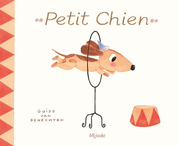 """Sac à album thème cirque sur l'album """"Petit Chien"""""""
