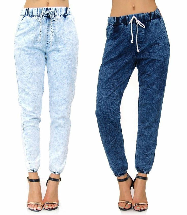 25  best ideas about Denim jogger pants on Pinterest | Denim ...