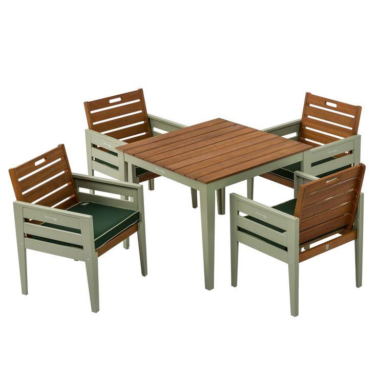 Florenity Verdi 4 Seat Wooden Garden Furniture Set | Internet Gardener