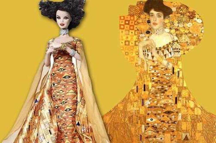 "Barbie as Klimt's ""Portrait of Adele Bloch-Bauer I"""
