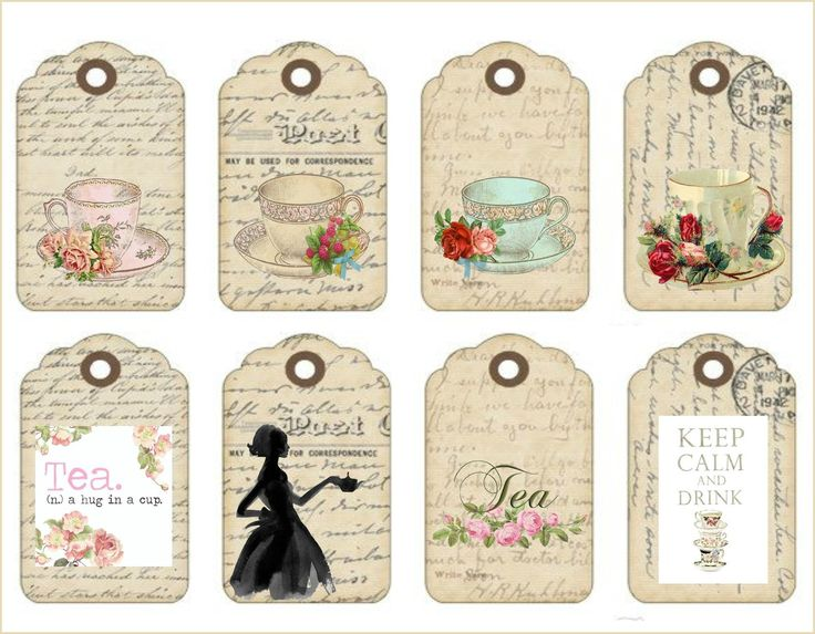 Perfect for tea party invitations...put the party details on the back with a ribbon through the hole and make them bookmark size
