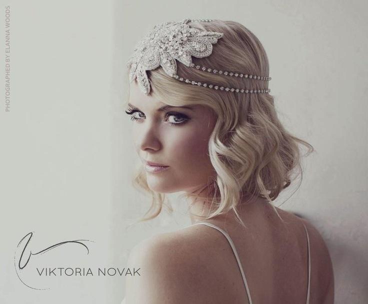 1940s bridal headpiece