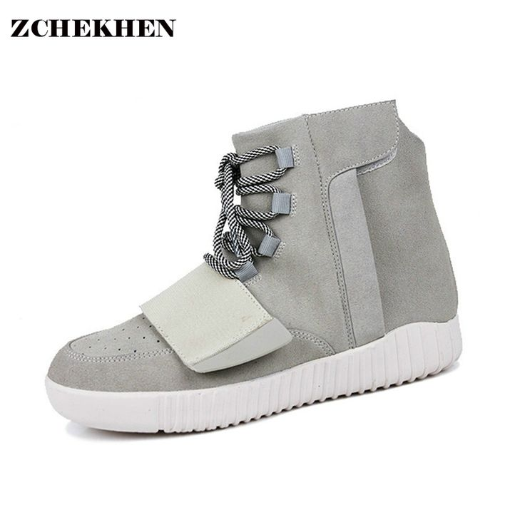 ZCHEKHEN 750 High top male suede Military Desert Boot casual kanye west hip-hop danceing shoes lace up Breathable gray black #Affiliate