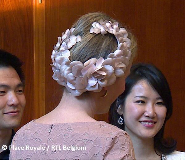 Queen Mathilde, June 3, 2014. #millinery #judithm #hats A lovely corona worn by Queen Mathilde.