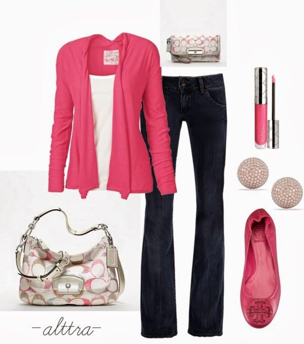 Get Inspired by Fashion: Spring Outfits | Pink for Spring  #spring_Jewelry_Outfits #lovely # - 204 Best Black And Pink Outfits Images On Pinterest Pink Black