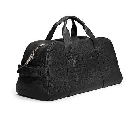 GILBANO - Leather Gym Bag - Phillimore - Black