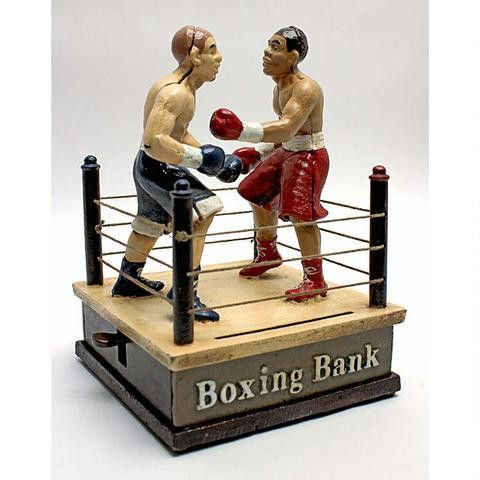 Battling Boxers Die Cast Iron Mechanical Coin Bank  sc 1 st  Pinterest & 123 best Antique Banks images on Pinterest | Cast iron Piggy ... Aboutintivar.Com