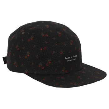 Raised By Wolves Algonquin 5 Panel Cap - Navy Civil War Floral  Label: Raised By Wolves   Format: Cap  £25.00 (£30.00 inc VAT)     Canadian born brand Raised By Wolves takes its inspiration from Skate culture, Urban clothing, and other popular trends combining them to create unique and one of a kind pieces of clothing.   •	Blue Civil War Paisley colourway  •	Cotton body  •	Raised By Wolves woven label detail  •	Web fabric adjuster at the back  •	Made in USA