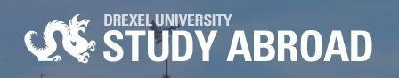 Drexel Students, this is your study abroad website. It shows you what study abroad trips are available, when and for how long. Although, it is also possible to create your own study abroad it just takes a little bit more research. It is imperative, that you check with your program and coop advisers to make sure you have a term you can go. If your program does have a term you can go, there are different one week trips during breaks.