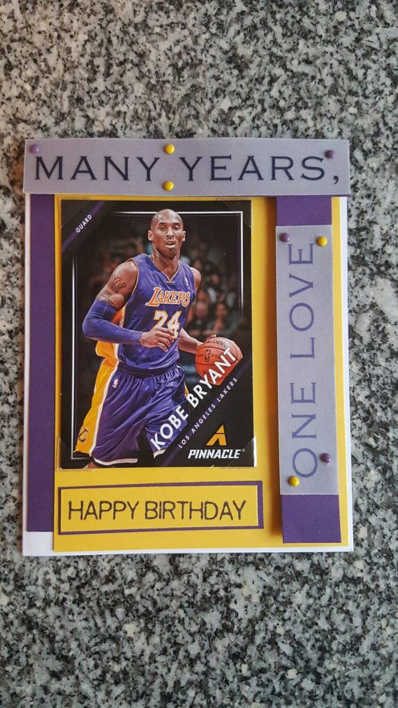 Check out this item in my Etsy shop https://www.etsy.com/listing/261281669/la-lakers-kobe-bryant-birthday-card-with